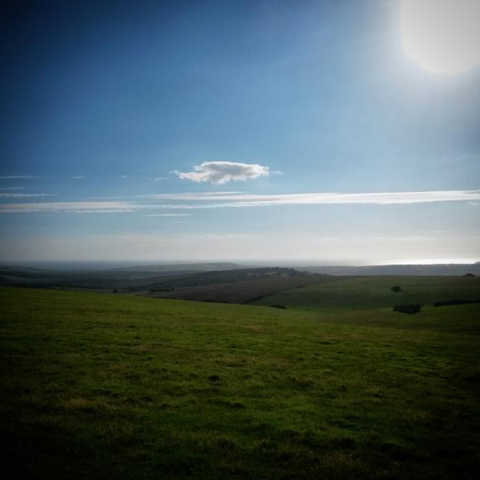 Hills and sea and sunshine.