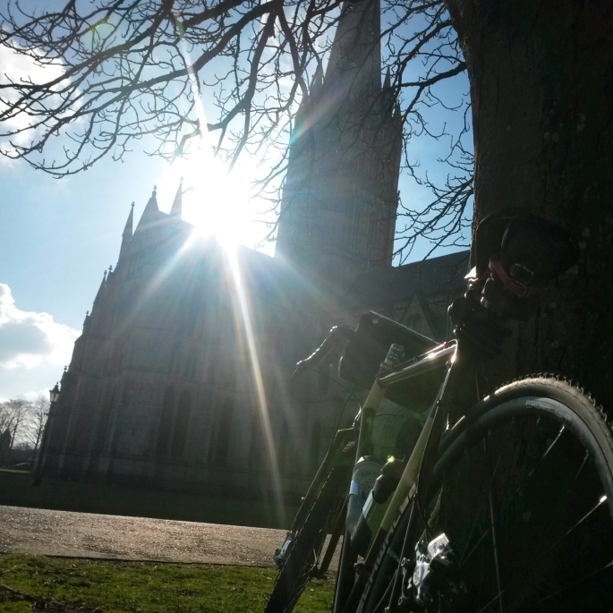 First 200km ride of the year, starting out at Salisbury Cathedral.
