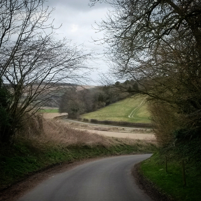 Descending from Old Winchester Hill towards East Meon.